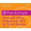 Microsoft Office Professional 2013 for Touch Devices Plain & Simple Katherine Murray Paperback