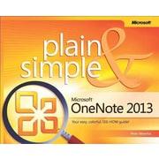 Microsoft OneNote 2013 Plain & Simple Peter Weverka Paperback