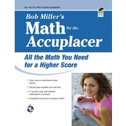 Bob Miller's Math for the Accuplacer (College Placement Test Preparation) Bob Miller Paperback