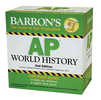 Barron's AP World History Flash Cards Lorraine Lupinskie-Huvane Cards 653878