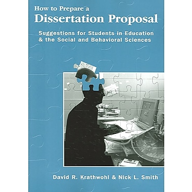 preparing a research proposal for a student research dissertation Developing graduate research proposals begin thinking about preparing a research proposal final project/thesis/dissertation students should expect to put a.