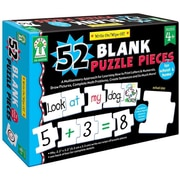 Write-On/Wipe-Off: 52 Blank Puzzle Pieces