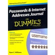 Passwords & Internet Addresses Journal For Dummies