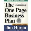 The One Page Business Plan, Financial Services Edition