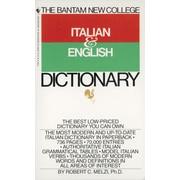 Bantam New College Italian/English Dictionary (Bantam New College Dictionary Series)
