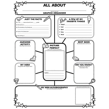 Graphic Organizer Posters All-About-Me Web: Grades 3-6