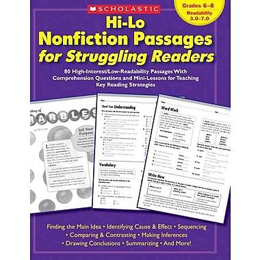 Hi-Lo Nonfiction Passages for Struggling Readers: Grades 6-8 Scholastic Teaching Resources Paperback