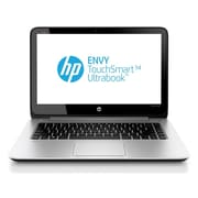 HP® Envy TouchSmart 14-K120US 14 LED LCD Notebook, Intel Dual-Core i5-4200U 1.6 GHz, Natural Silver