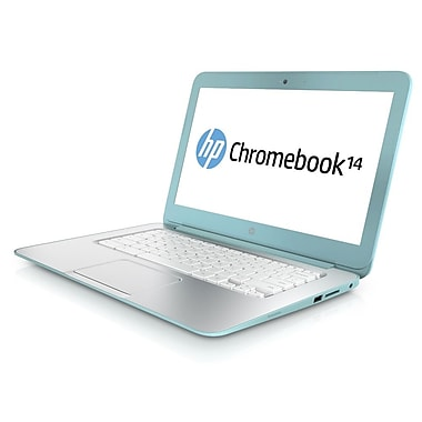 HP® Chromebook 14-q020nr 14in. LED LCD Notebook, Intel Dual-Core 2955U 1.4 GHz, Ocean Turquoise