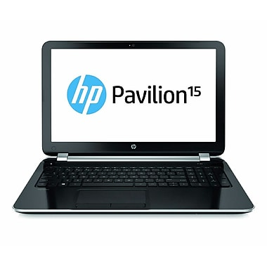 HP® Pavilion 15-n210us 15.6in. LCD LED Notebook, AMD A6 6200U, Sparkling Black/Ano Silver