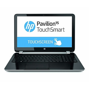 HP® Pavilion TouchSmart 15-n220us 15.6in. LED LCD Notebook, AMD Quad-Core A6-5200 2 GHz