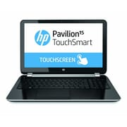 HP® Pavilion TouchSmart 15-n220us 15.6 LED LCD Notebook, AMD Quad-Core A6-5200 2 GHz