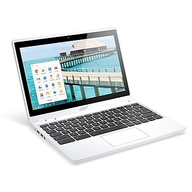 Acer® C720P-2600 11.6in. HD LED LCD Touchscreen Chromebook, Intel Celeron 2955U 1.4 GHz, White