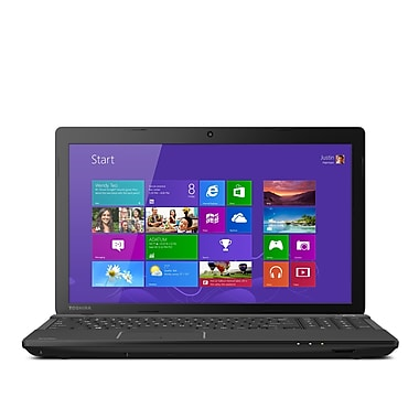 Toshiba® Satellite® C55D-A5163 15.6in. LCD LED Notebook, AMD E1-2100 1 GHz, Satin Black