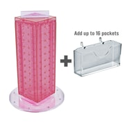 "Azar Displays 13""H x 4""W x 4""D Pegboard Counter Gift Card Holder Pink"