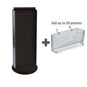 Azar Displays 8 x 21 Pegboard Counter Gift Card Holder Black