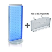 Azar Displays 8 x 21 Pegboard Counter Gift Card Holder Blue