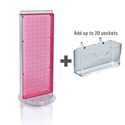 "Azar Displays 8"" x 21"" Pegboard Counter Gift Card Holder Pink"
