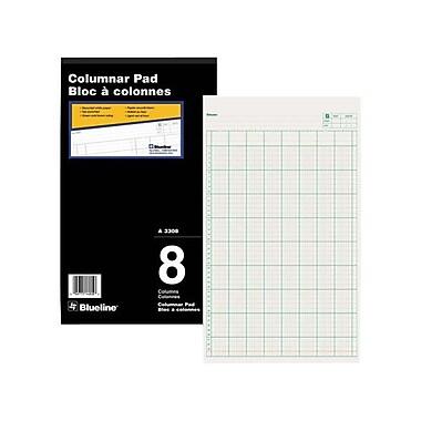 Blueline® Gummed Columnar Pad, A3308, 8 Columns, 8-1/4