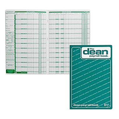 Dean & Fils - Livret de la paye, 80-008, 13 3/4 po x 9 po, 8 employés, anglais