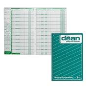 "Dean & Fils Payroll Book, 80-008, 13-3/4"" x 9"", 8 Employee, English"