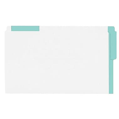 Pendaflex® Legal End Tab Folder with Coloured Strips, Green, 100/Box
