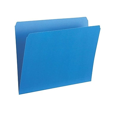 Pendaflex® Legal Single Top Vertical Coloured File Folder, Blue, 100/Box