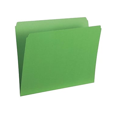 Pendaflex® Letter Single Top Vertical Coloured File Folder, Green, 100/Box