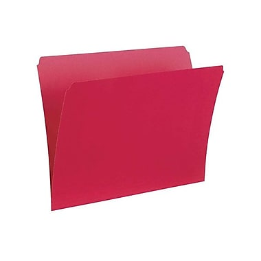 Pendaflex® Letter Single Top Vertical Coloured File Folder, Red, 100/Box