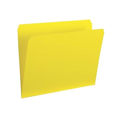Pendaflex® Legal Single Top Vertical Coloured File Folder, Yellow, 100/Box