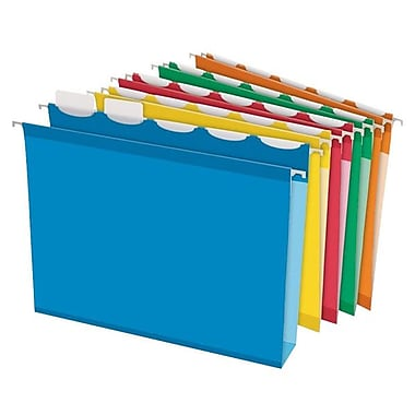 Pendaflex® ReadyTab™ Extra Capacity Hanging Folder, Letter Size, Assorted, 25/Box