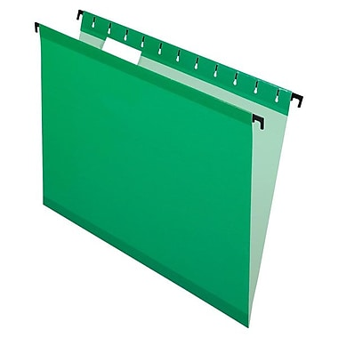 Pendaflex® SureHook™ Reinforced Hanging Folder, Letter Size, Bright Green, 20/Box