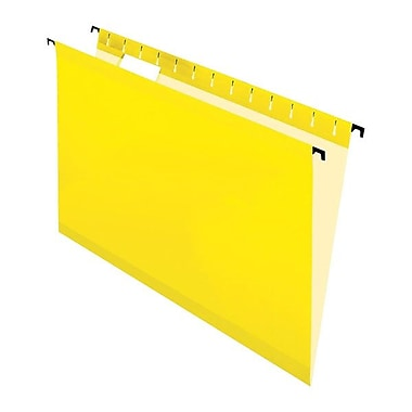 Pendaflex® SureHook™ Reinforced Hanging Folder, Legal Size, Yellow, 20/Box