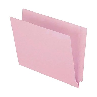Pendaflex® Letter Colour End Tab Folder with Reinforced Tab, Pink, 100/Box