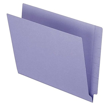 Pendaflex® Letter Colour End Tab Folder with Reinforced Tab, Purple, 100/Box