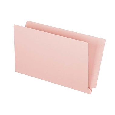 Pendaflex® Legal Colour End Tab Folder with Reinforced Tab, Pink, 50/Box