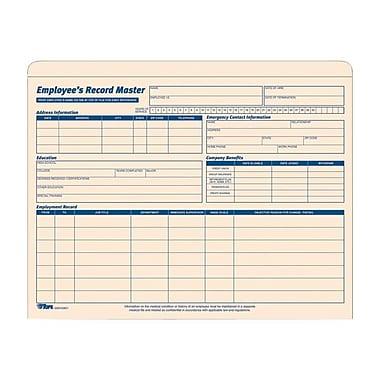 TopsMD – Jaquette pour dossier d'employé, 32801, 9 1/2 x 11 3/4 po, 15/paquet