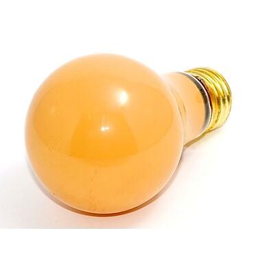Bulbrite® 60 Watt 130 Volt A19 Bug Bulb, Opaque/Yellow