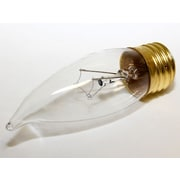 Bulbrite® 40 Watt 120 Volt CA10 Candle Bent Tip Flame Decorative Bulb, Clear/Warm White, 25/Pack