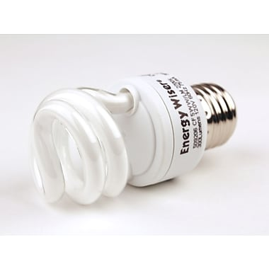 Bulbrite® 5 Watt 120 Volt Spiral CFL Bulbs, Warm White, 4/Pack