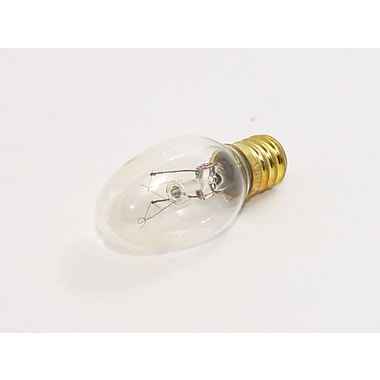 Bulbrite® 4 Watt 120 Volt C7 Candle Night Light Bulb, Clear/Warm White