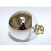 Westinghouse 25 Watt 120 Volt G25 Globe Bulb, Half Chrome/Warm White, 12/Pack