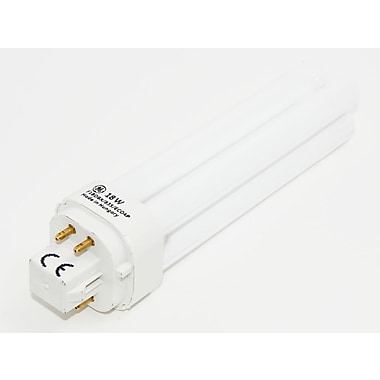 GE 18 Watt 4-Pin Double Twin Tube CFL Bulb, Neutral White