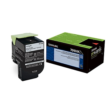 Lexmark™ 70C1HK0 Black Return Program Toner Cartridge, High Yield