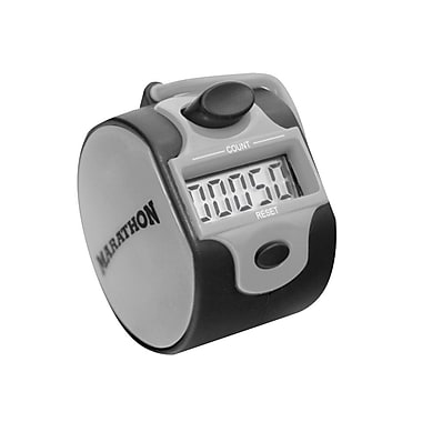 Marathon Handheld Tally Counter with Digital LCD, Silver