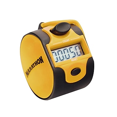 Marathon Handheld Tally Counter with Digital LCD, Yellow