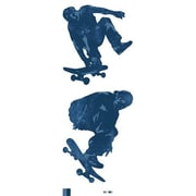 York Wallcoverings Mural Portfolio II Skate Boarders Wall Decal; Grey