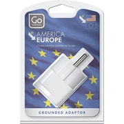 Go Travel North & South America to Europe Grounded Adapter