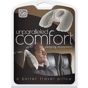 Go Travel – Coussin de nuque gonflable Super Snoozer en molleton et mousse, gris