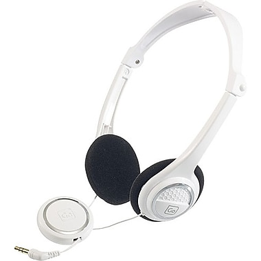 Go Travel Folding Headphones, White